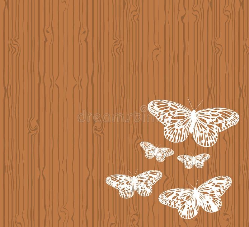 Basisrecheneinheiten auf Holz lizenzfreie abbildung