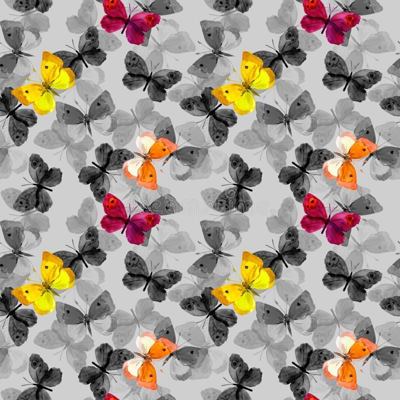 basisrecheneinheiten Bunt am grauen Hintergrund Wiederholtes Muster watercolor lizenzfreie abbildung