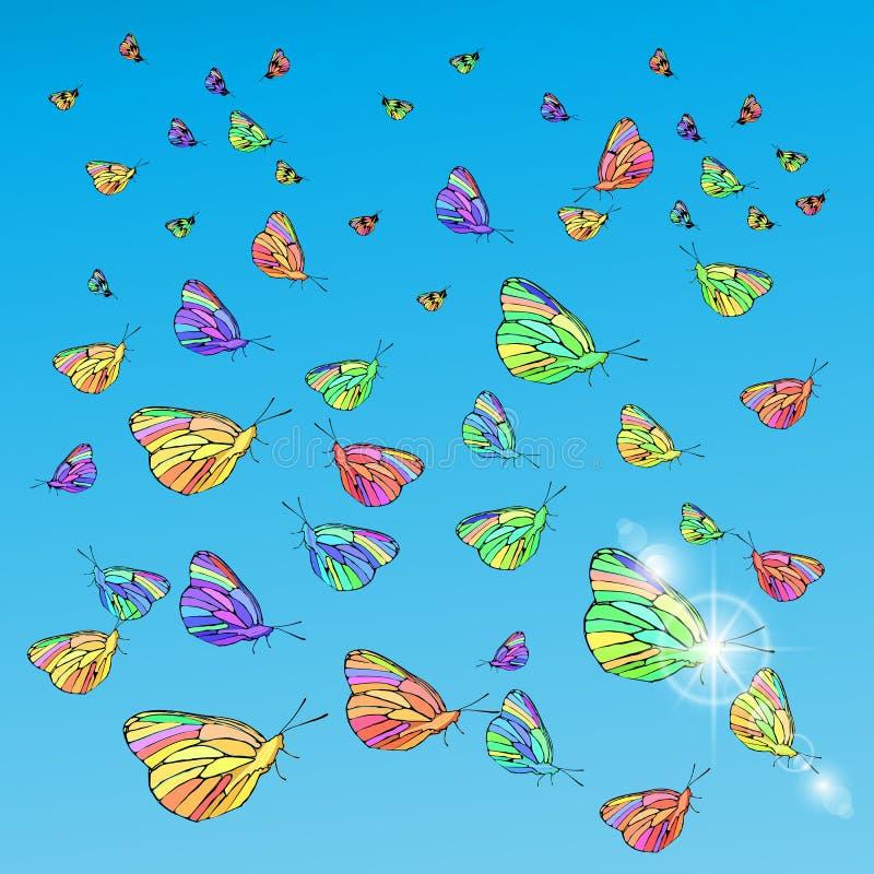 Basisrecheneinheiten im Himmel Konzept der Freiheit vektor abbildung