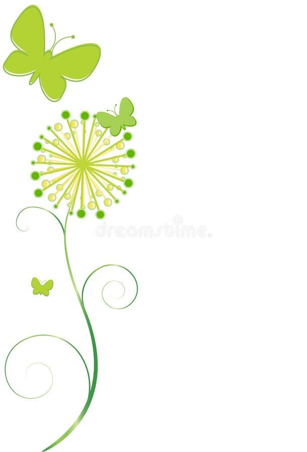 Basisrecheneinheiten und Blume lizenzfreie abbildung