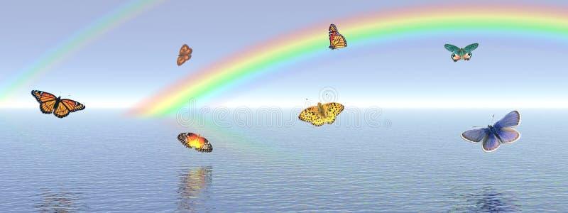 Basisrecheneinheiten und Regenbogen vektor abbildung