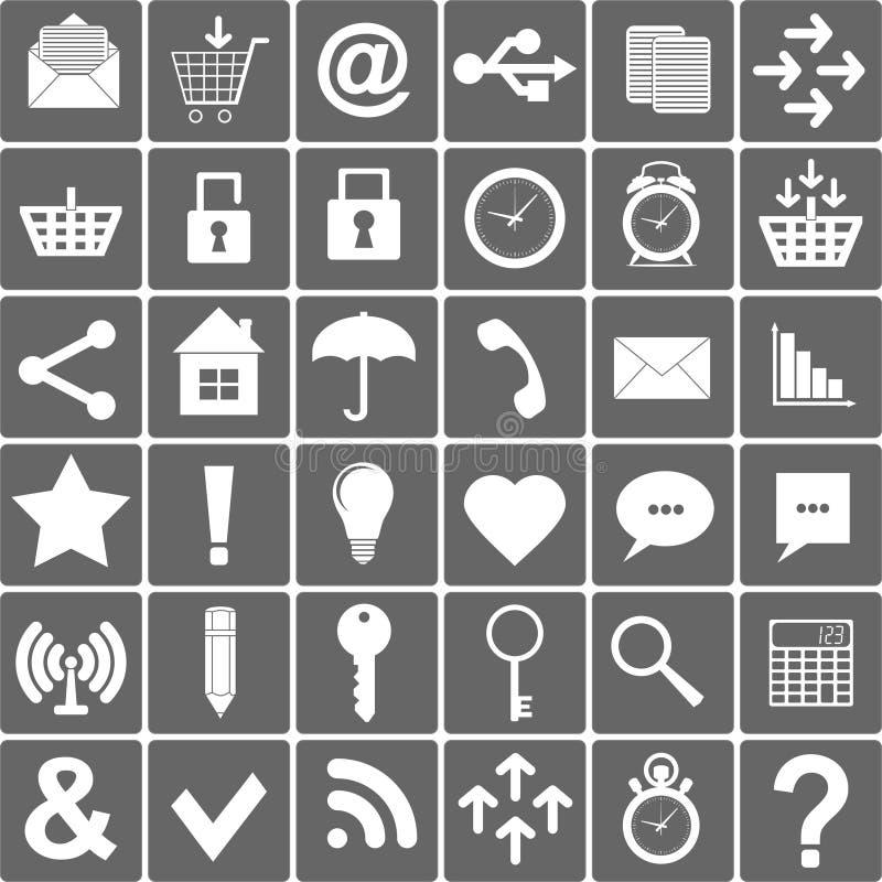 Basissmartphone-Geplaatste Pictogrammen Vector illustratie vector illustratie