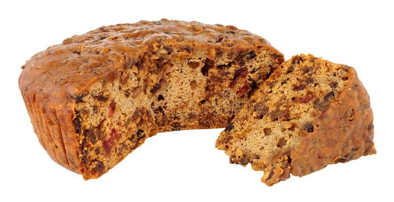 Basisundecorated-Fruitcake stock foto