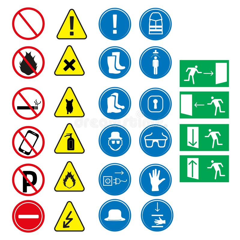 Job safety equipment icons set.design vector illustration design. Icons stock illustration
