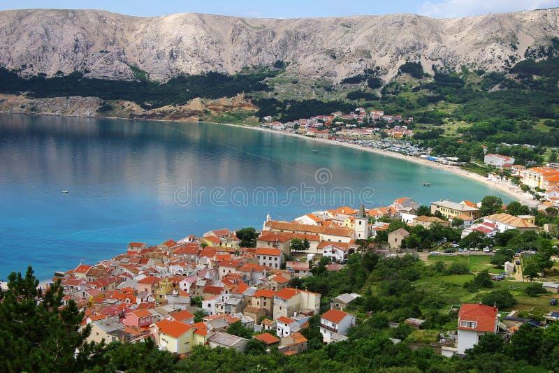 Baska, Krk island, Croatia royalty free stock images