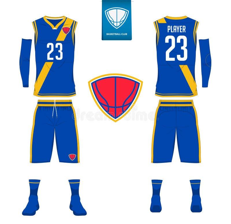 Basketärmlös tröja, kortslutningar, sockamall för basketklubba royaltyfri illustrationer