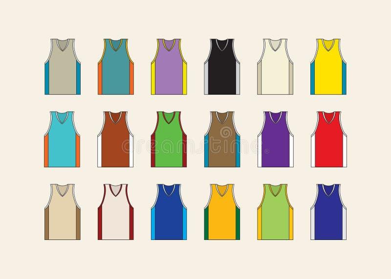 Basketärmlös tröjauppsättning royaltyfri illustrationer