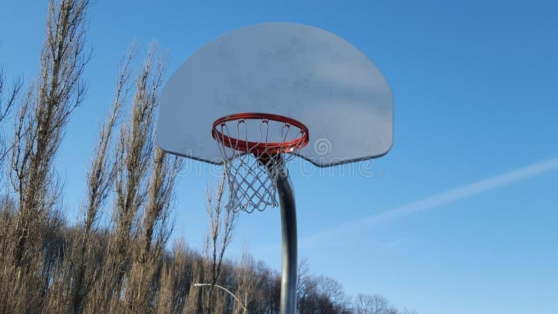 Basket är en stor sport royaltyfria foton