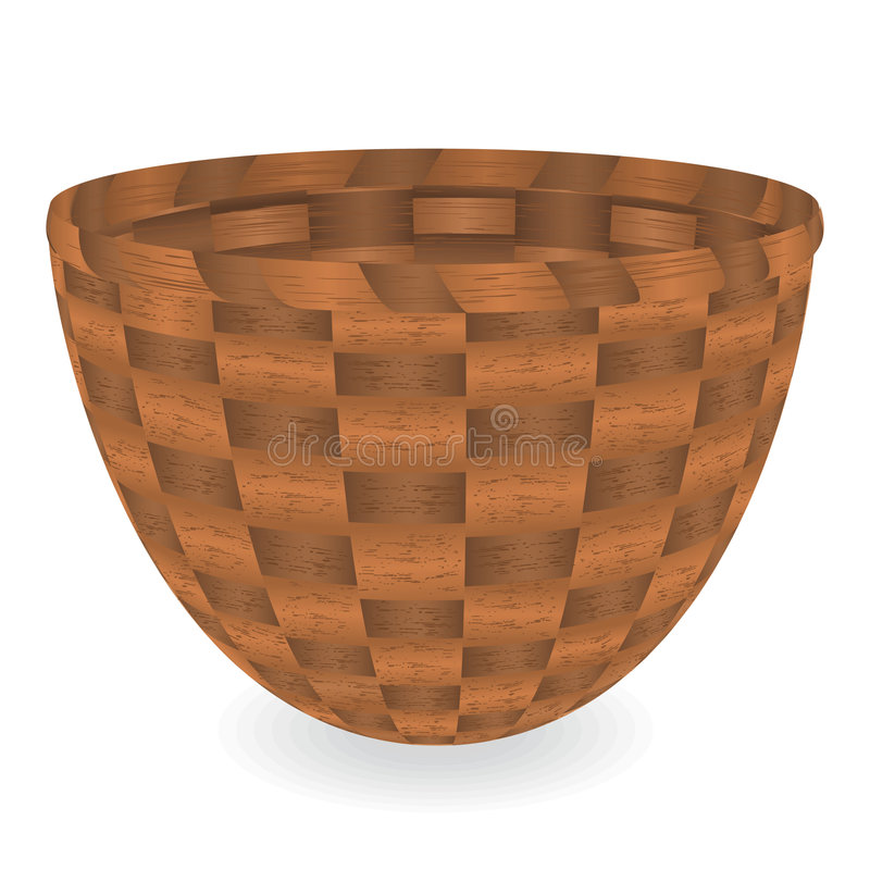Basket stock illustration