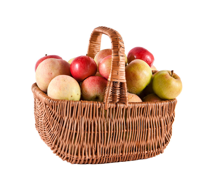 Download Basket with apples stock photo. Image of fresh, ripe - 15639796