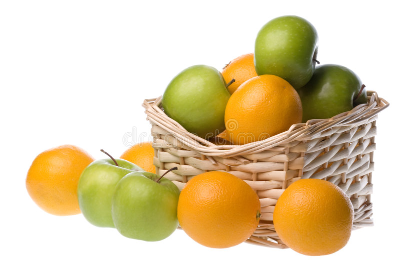 Download Basket Of Apples And Oranges Stock Image - Image: 6641549