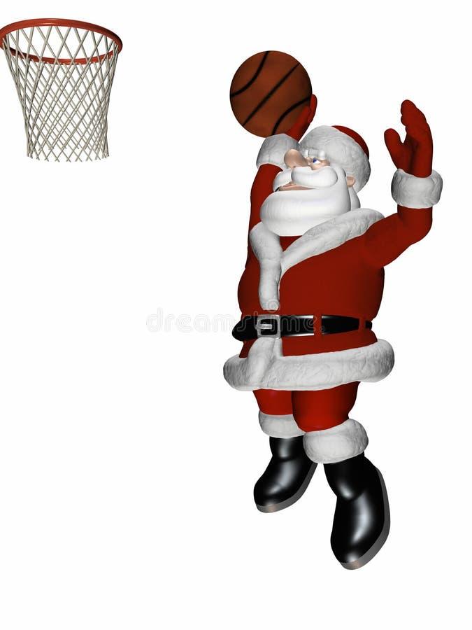 Basket-ball 2 de Santa illustration libre de droits