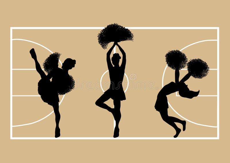 Basket-ball 3 de majorettes illustration libre de droits