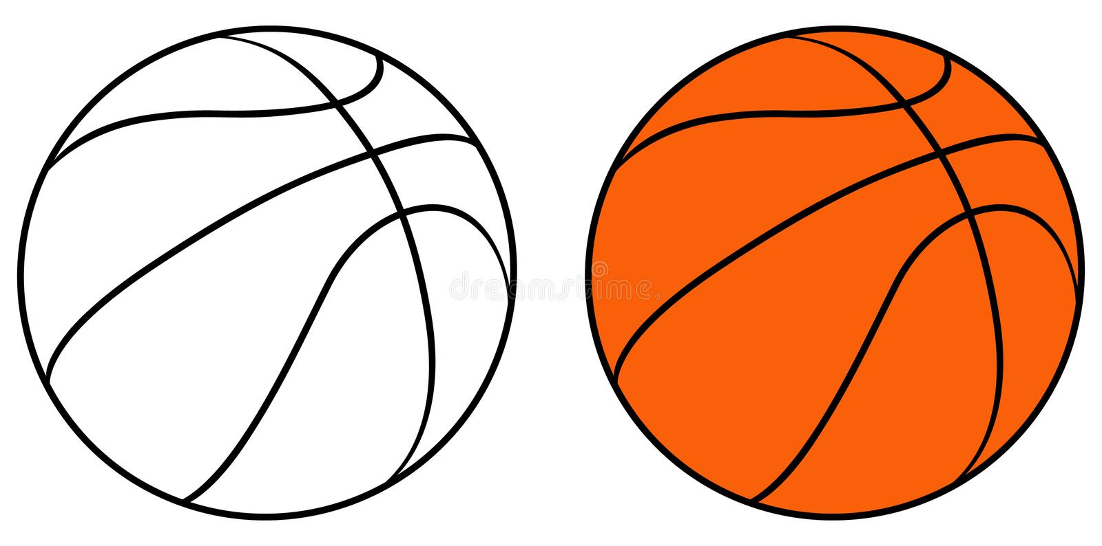 Basket-ball illustration libre de droits