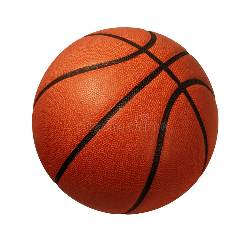 Basket-ball d'isolement images stock