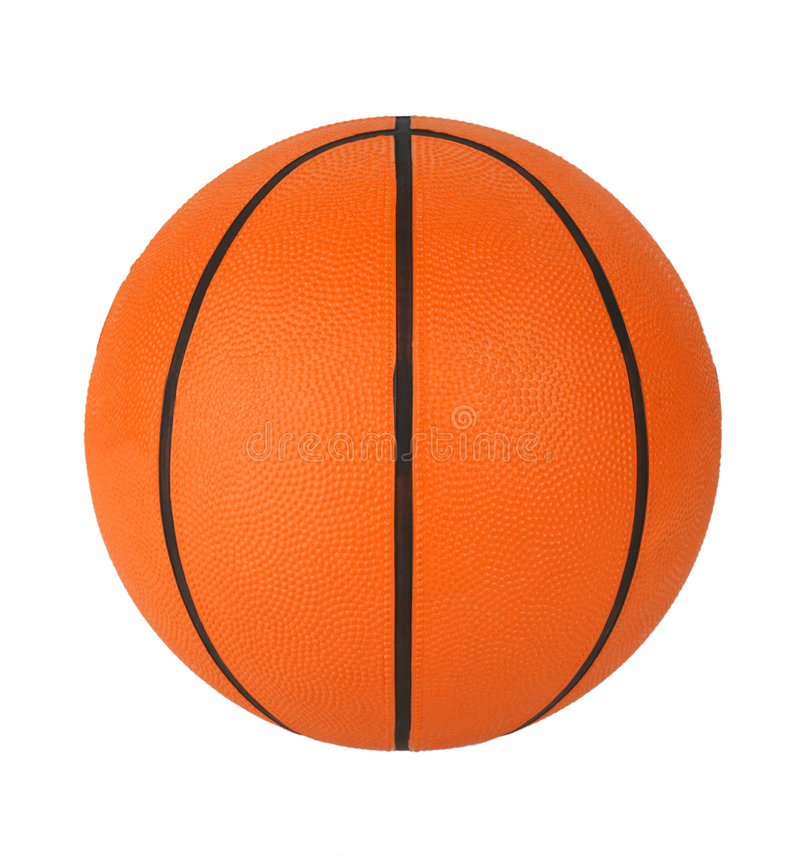 Basket-ball d'isolement photographie stock