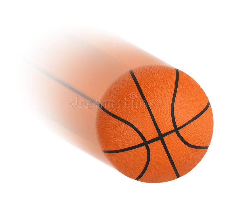 Basket-ball d'isolement image stock