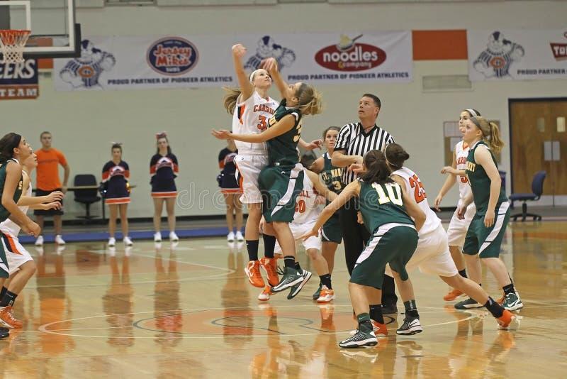 Basket-ball de filles de NCAA photos libres de droits