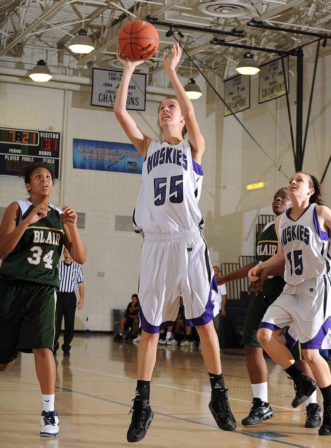 Basket-ball de lycée de filles photographie stock libre de droits