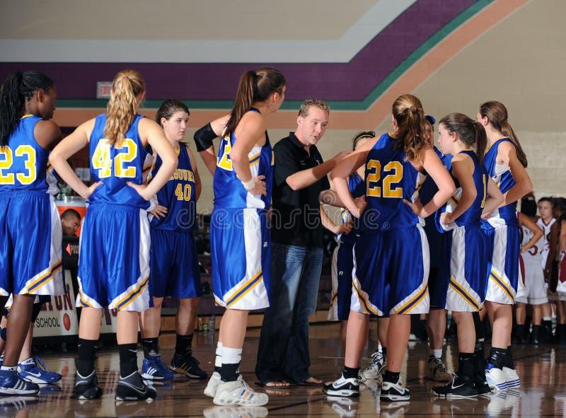 Basket-ball de lycée de filles photos stock