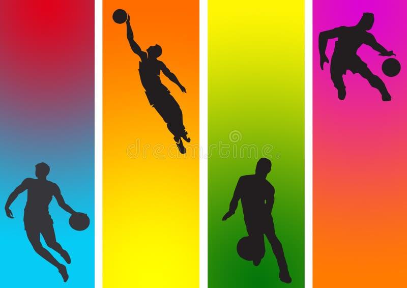 Basket-ball en couleurs illustration libre de droits