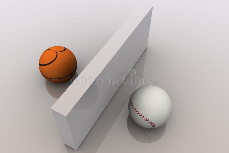 Basket-ball et base-ball illustration de vecteur