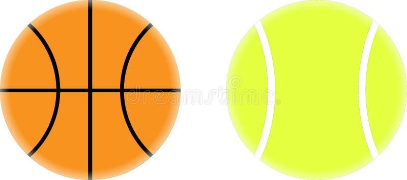 basket ball et dessin de vecteur de balle de tennis illustration de vecteur image 39141649. Black Bedroom Furniture Sets. Home Design Ideas