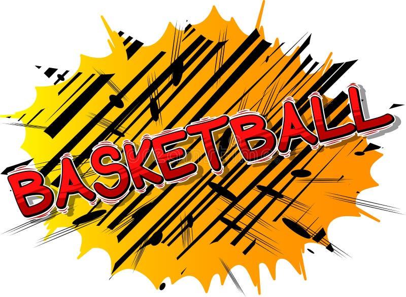 Basket-ball - expression de style de bande dessinée illustration stock