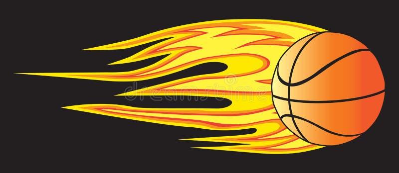 Basket-ball flamboyant illustration stock
