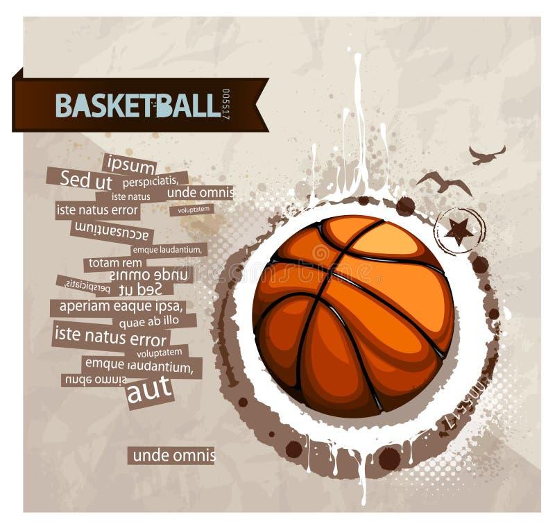 Basket-ball grunge illustration libre de droits