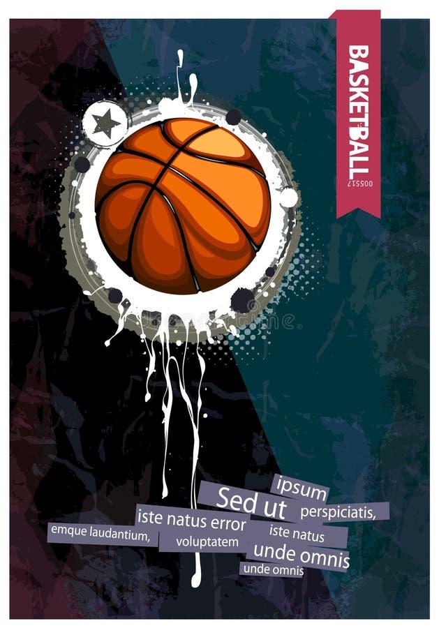 Basket-ball grunge illustration stock