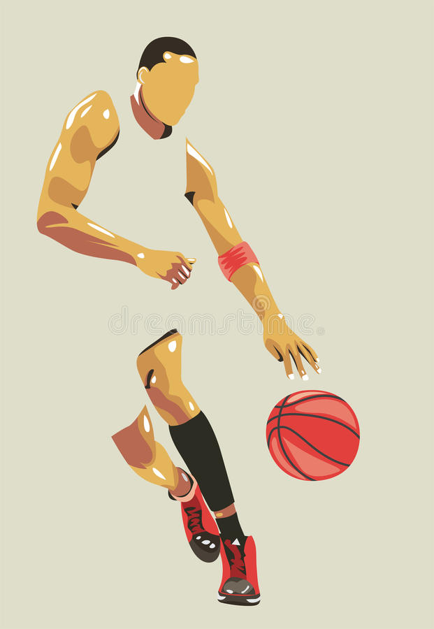 Free Basket Ball Player Vector Portrait/eps Royalty Free Stock Photo - 55030505