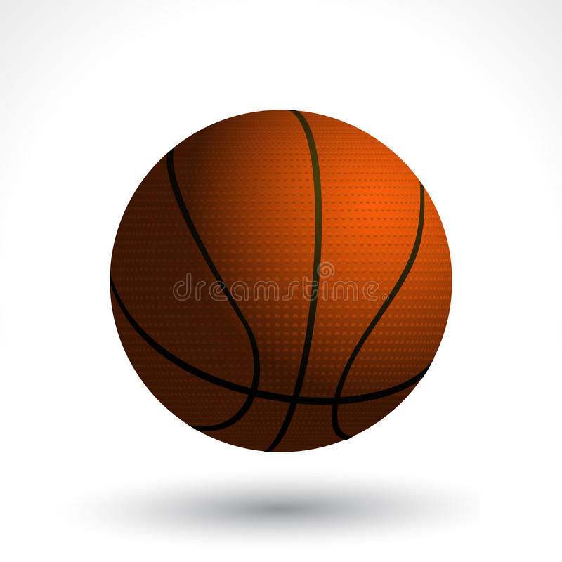 Basket Ball And Shadow Royalty Free Stock Photos