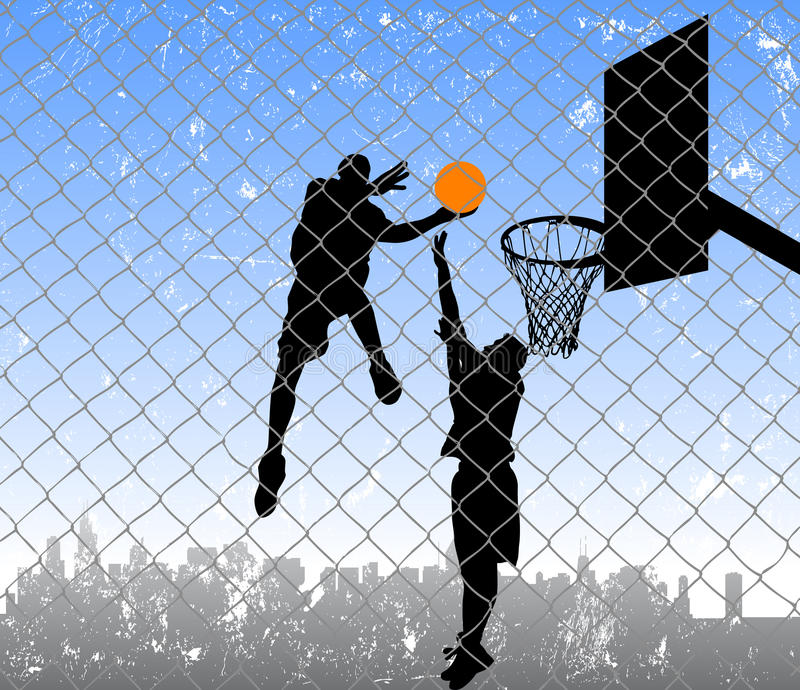 Basket-ball sur la rue illustration de vecteur