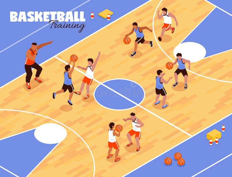 Basket-ball Team Background d'enfants illustration de vecteur