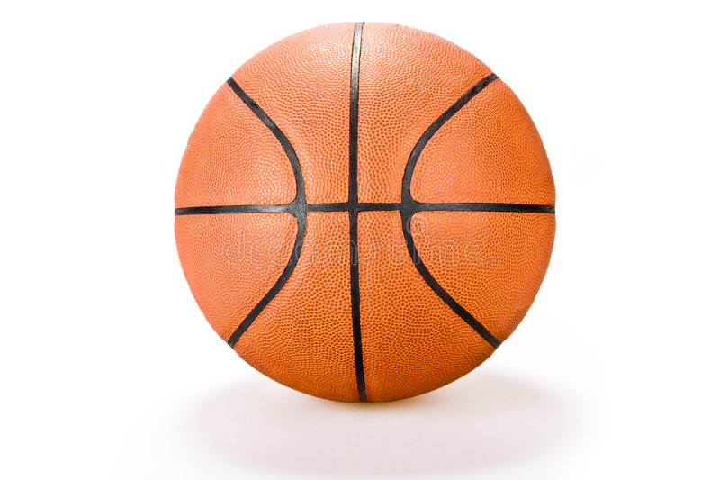 Basket ball on white background sport royalty free stock images