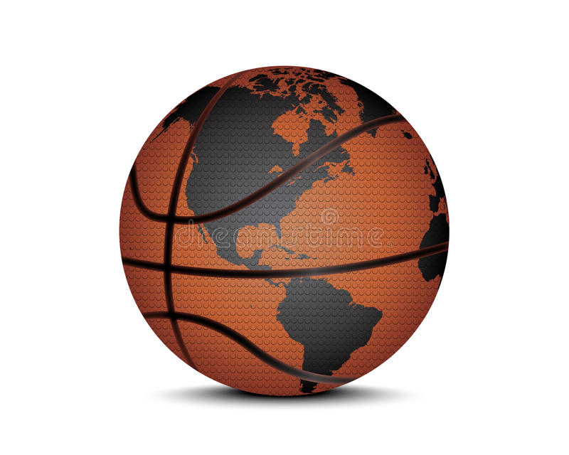 Basket ball with world map stock vector illustration of sport download basket ball with world map stock vector illustration of sport 66818868 gumiabroncs Gallery