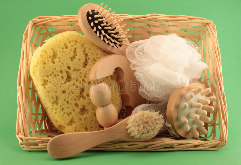 Download Basket With Beauty And SPA Articles Royalty Free Stock Image - Image: 36280806