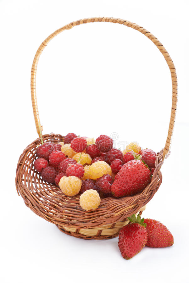 Basket With Berries Stock Photo