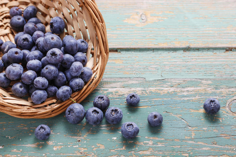 Image result for blueberries on blue wooden table