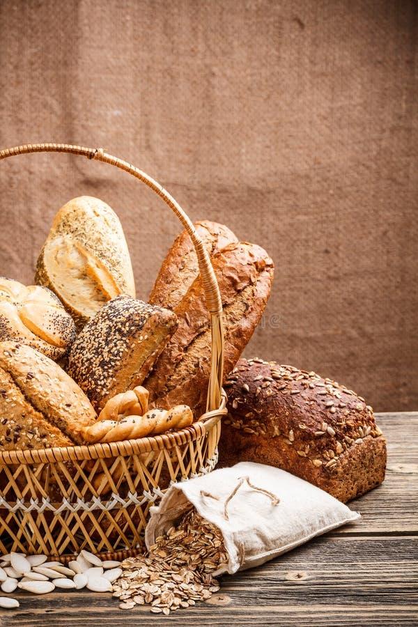 Basket Of Bread Royalty Free Stock Photos