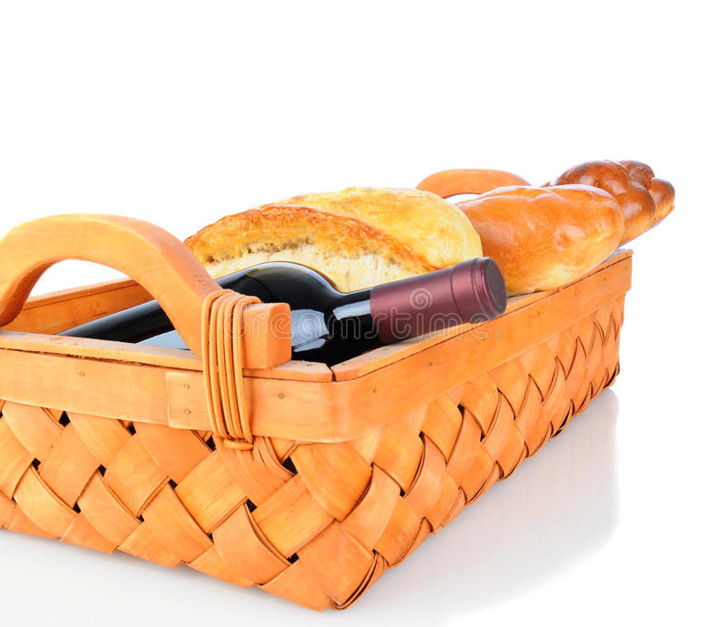 Basket with Bread and Wine