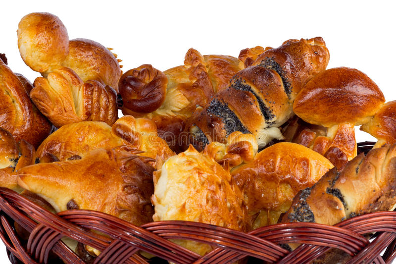 Download Basket with buns stock photo. Image of objects, cake - 27496024