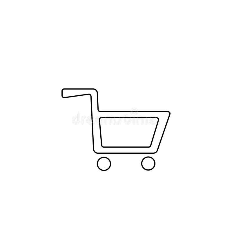 Cart icon. Shopping basket symbol. Basket, cart, illustration, vector, icon, shop, buy, retail, sale, market, sign, symbol, commerce, store, business, design vector illustration