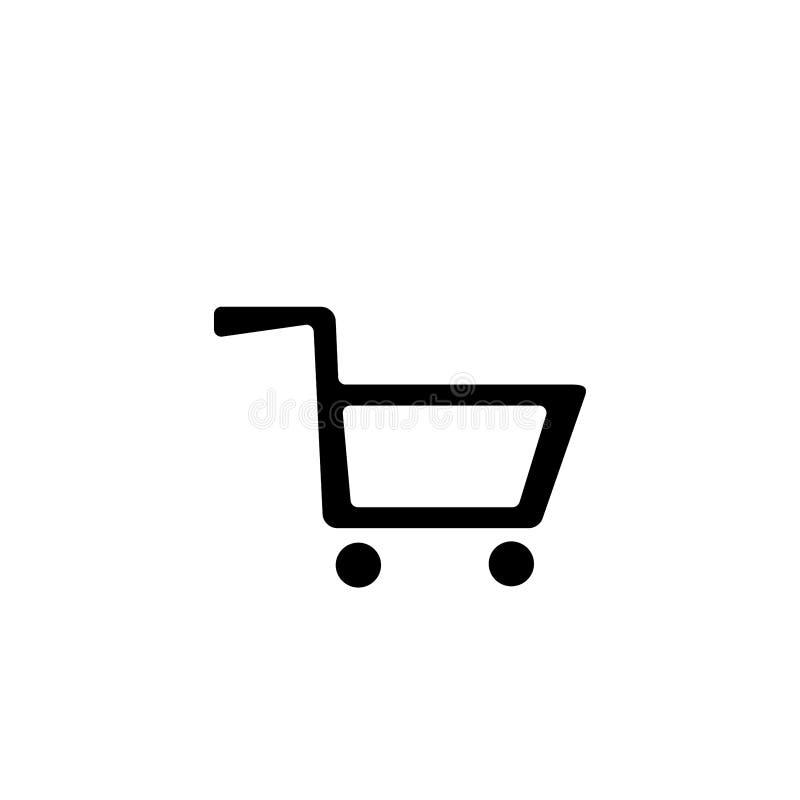 Cart icon. Shopping basket symbol. Basket, cart, illustration, vector, icon, shop, buy, retail, sale, market, sign, symbol, commerce, store, business, design royalty free illustration