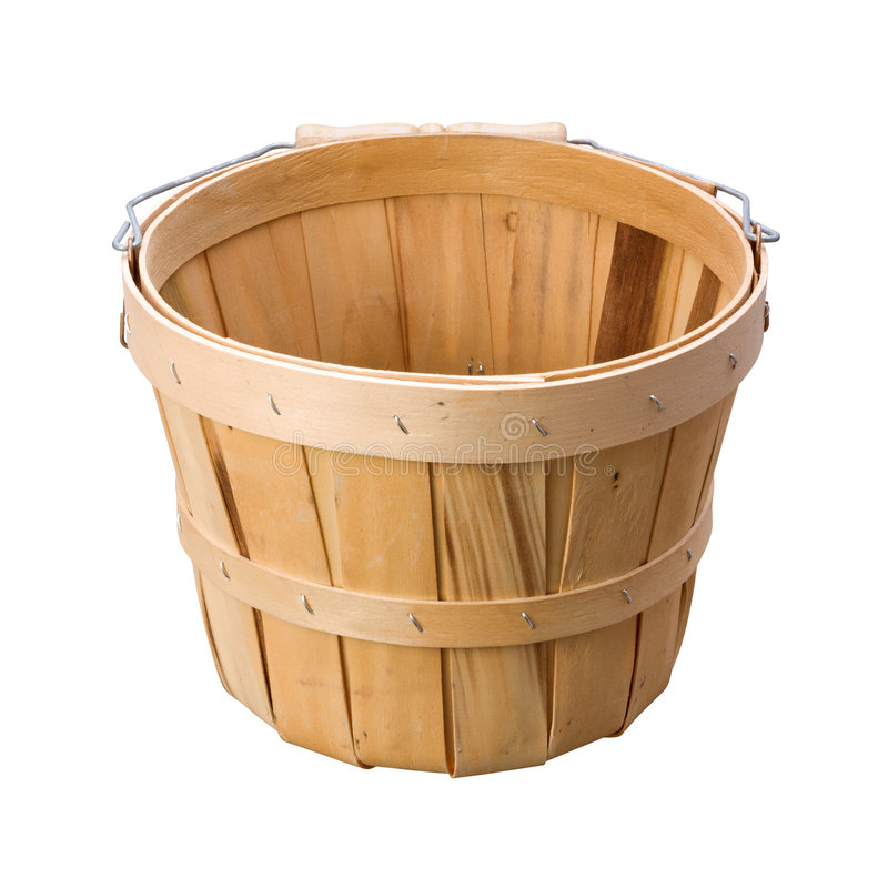 Basket (with clipping path). Basket on a white background (with clipping path). Isolation is on a transparent layer in the PNG format stock images