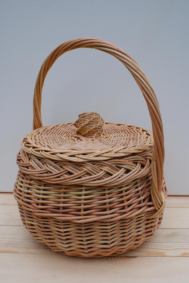 Download Basket with a cover. stock photo. Image of round, subject - 12105574
