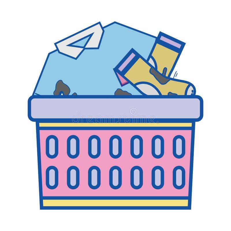 Basket design with dirty clothes inside. Vector illustration vector illustration