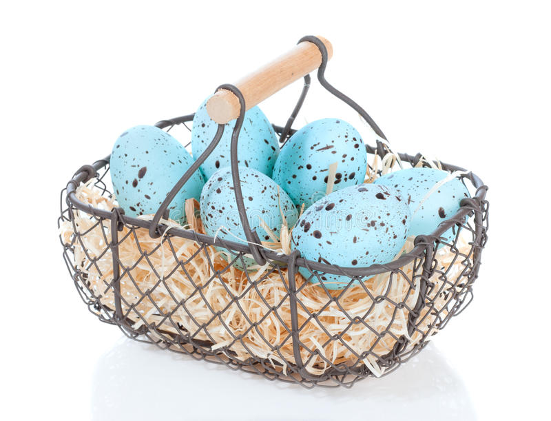 Download Basket Of Easter Eggs stock image. Image of white, seasonal - 28691769