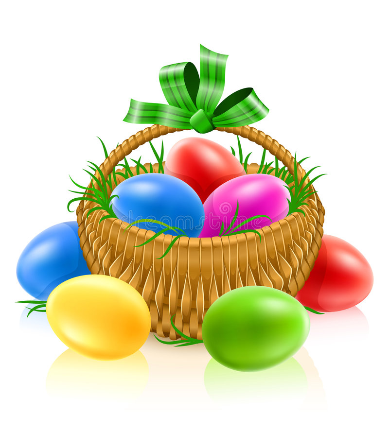 Download Basket with easter eggs stock illustration. Image of object - 8552080